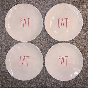Rae Dunn Set of 4 Eat Melamine Plates